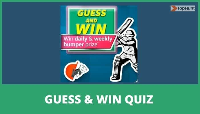 Amazon Guess and Win Quiz Answers FunZone Cricket T20 Fever Trivia