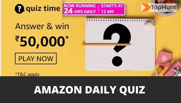 Amazon Quiz Answers Today Funzone Win 50000 Pay Balance