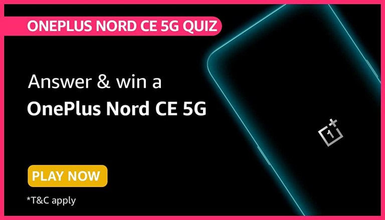 Amazon OnePlus Nord CE 5G Quiz Answers Win Oneplus Nord