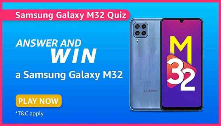 Amazon Samsung Galaxy M32 Quiz Answers Win Smartphone