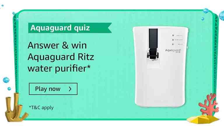 Amazon Aquaguard Quiz Answers July 2021 Win Ritz Water purifier
