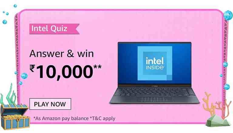Amazon Intel Laptops Quiz Answers Today Win 10000