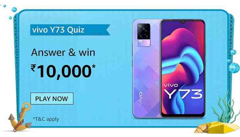 Amazon vivo Y73 Quiz Answers Today Win ₹10000