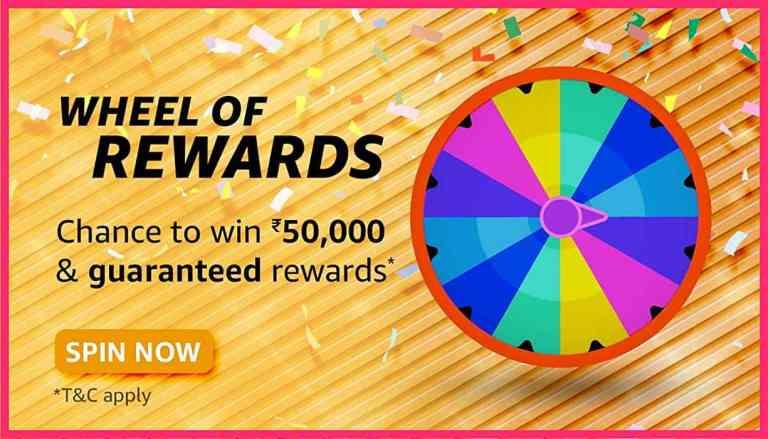 Amazon Wheel of Rewards Quiz Answers Today Win 50,000