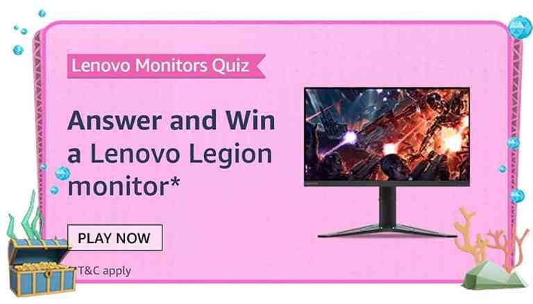Amazon Lenovo Monitors Quiz Answers Win Legion Monitor