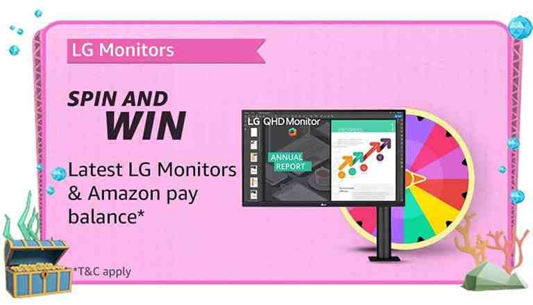 Amazon LG Monitors Quiz Answers Spin and Win Monitor or Pay Balance