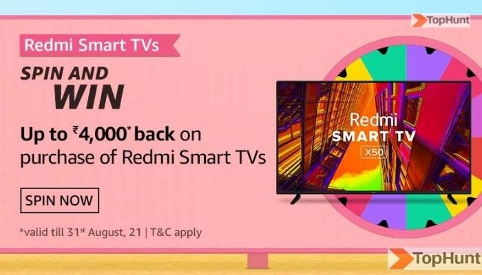 Amazon Realme Smart TVs Quiz Answers Spin And Win 4k Back