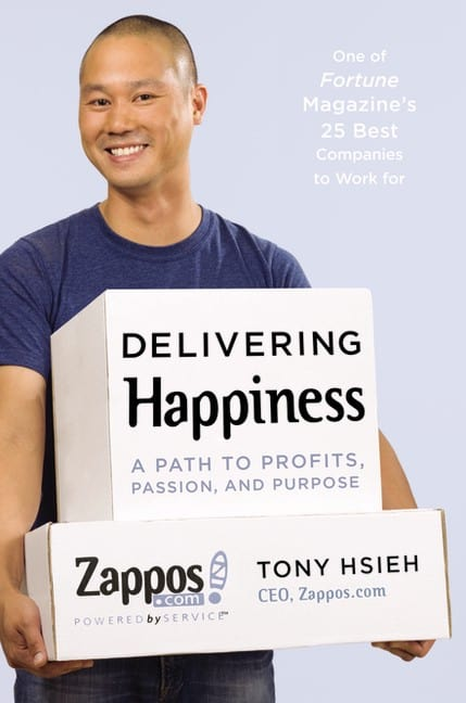 Tony Hsieh's Delivering Happiness book