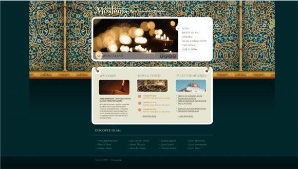 best islamic design template one
