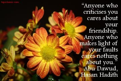islamic quote about friends