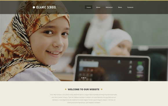 islamic education website template by topislamic.com
