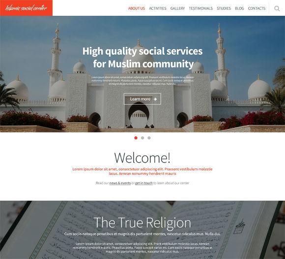 islamic social center template
