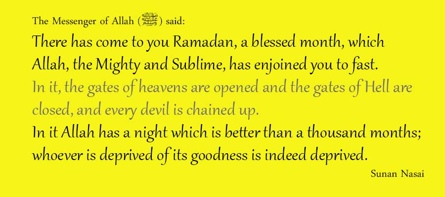 good habits for Ramadan from ahadith. This picture is of a hadith about Ramadan and making the most of it.