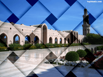 islamic wallpapers of a mosque with weaved effects