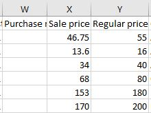 Woocommerce Sales prices in a CSV format