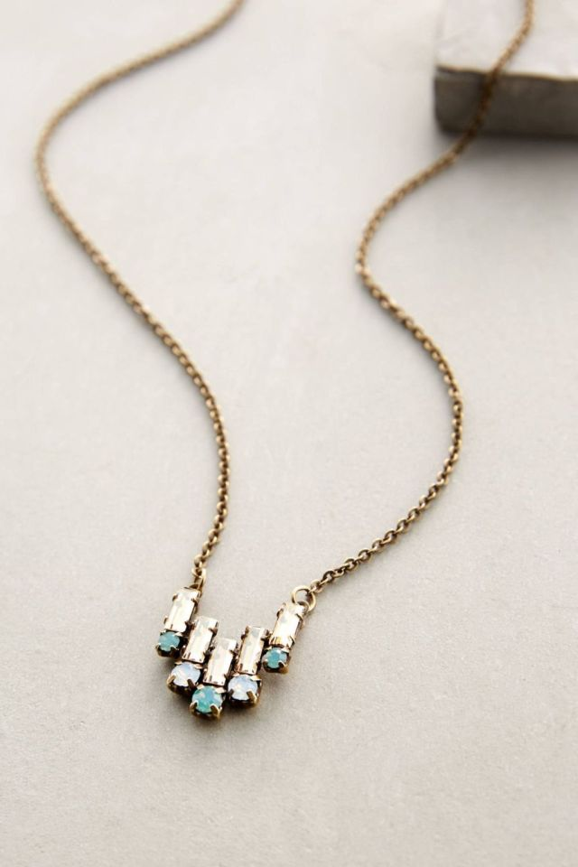 Anthropologie Deco Tilt Necklace in Neutral