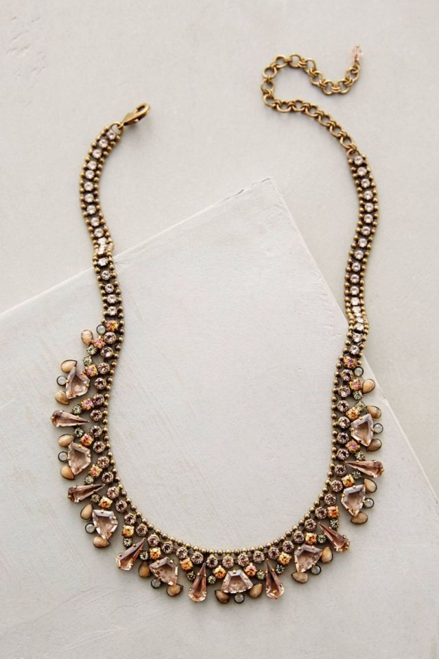 Sorrelli Sparkled Peche Bib Necklace