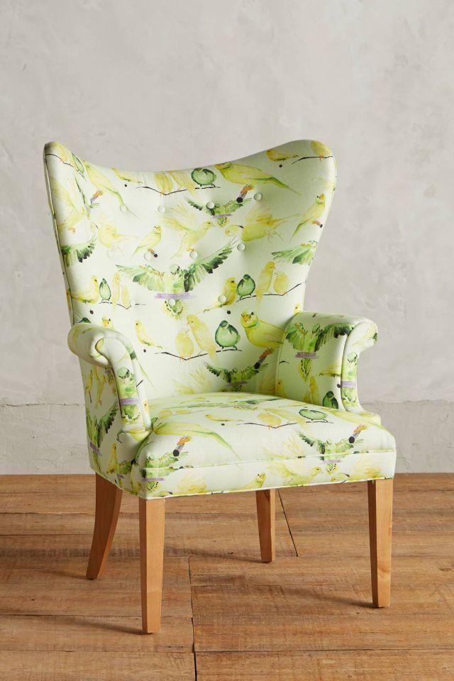 Birds Wingback Chair by Voutsa