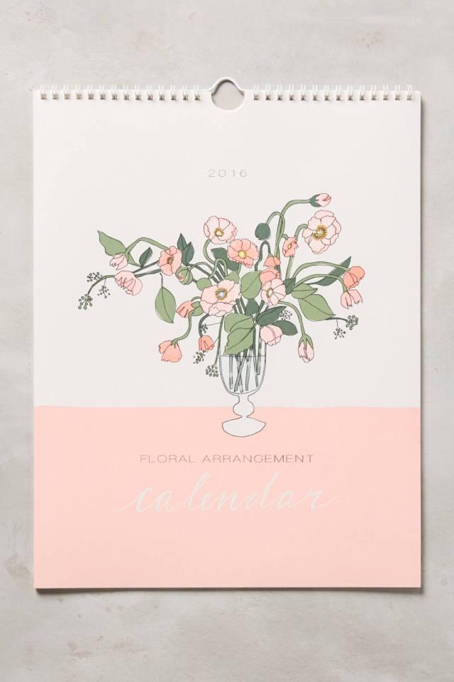 Bouquets For Days 2016 Calendar by Hartland Brooklyn