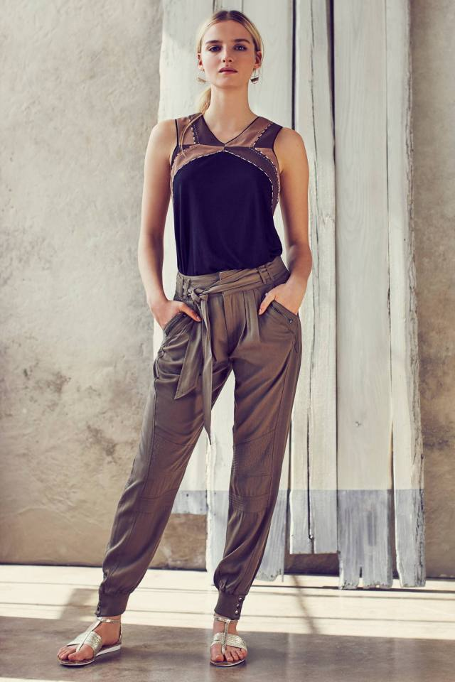 Button-Cuff Joggers by Greylin