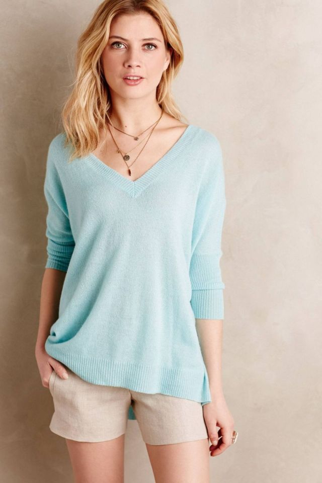Cashmere Double-V Pullover by Moth
