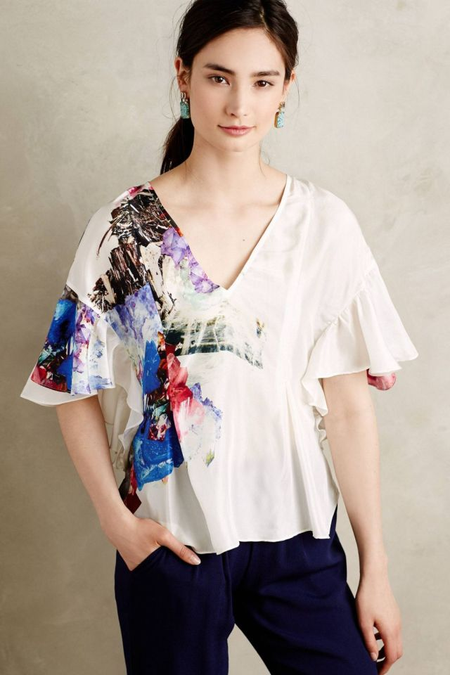 Crystal Cave Silk Kimono Blouse by Tryb