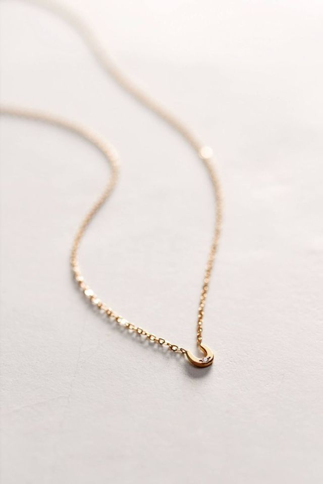 Diamond Mini Horseshoe Necklace by Charlie and Marcelle