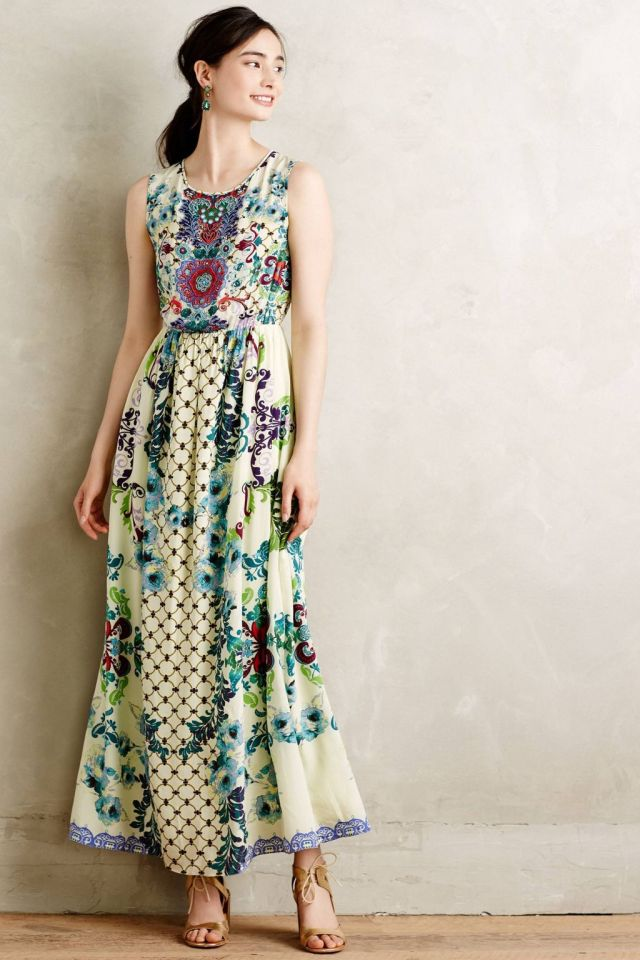 Embroidered Canaria Maxi Dress by Hemant & Nandita