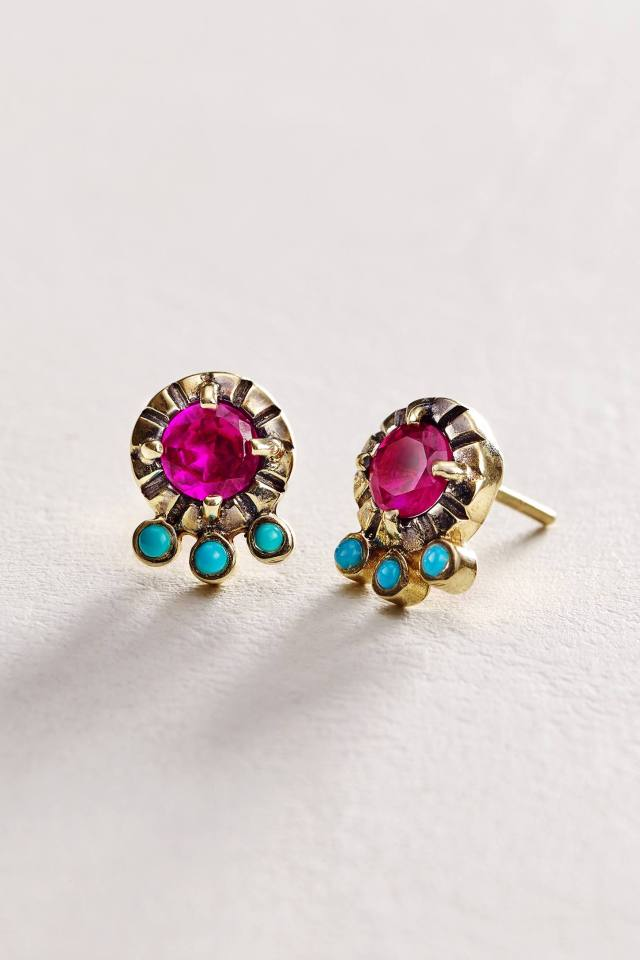 Fireworks Studs in 14k Rose Gold by Arik Kastan