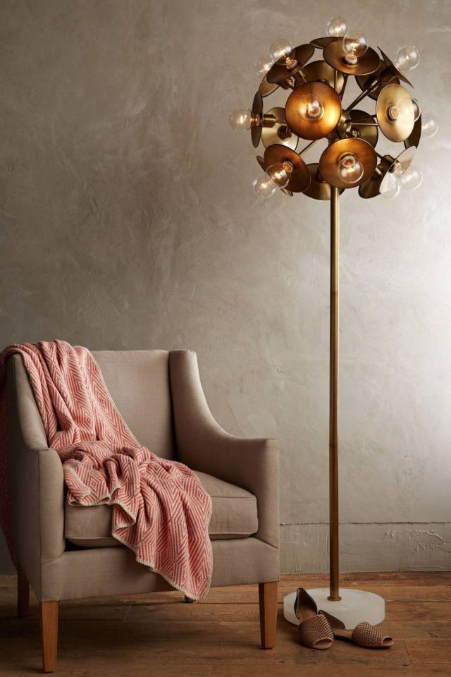 Metallic Bloom Floor Lamp