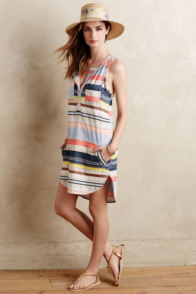 Mixed Stripe Tunic by The Odells