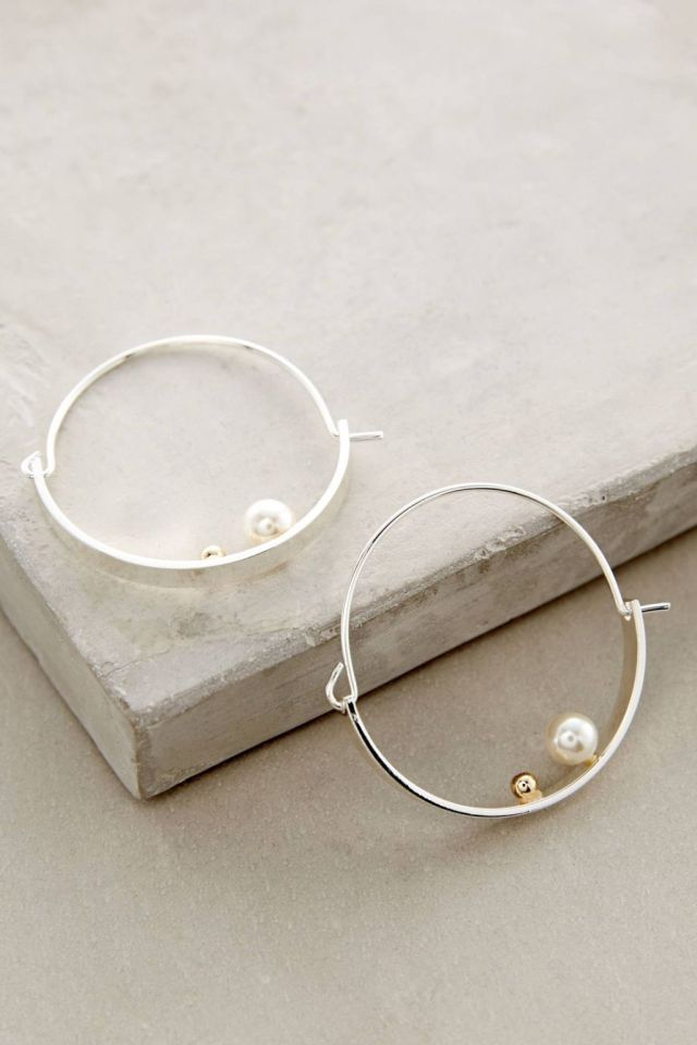 Pearl Crest Hoops