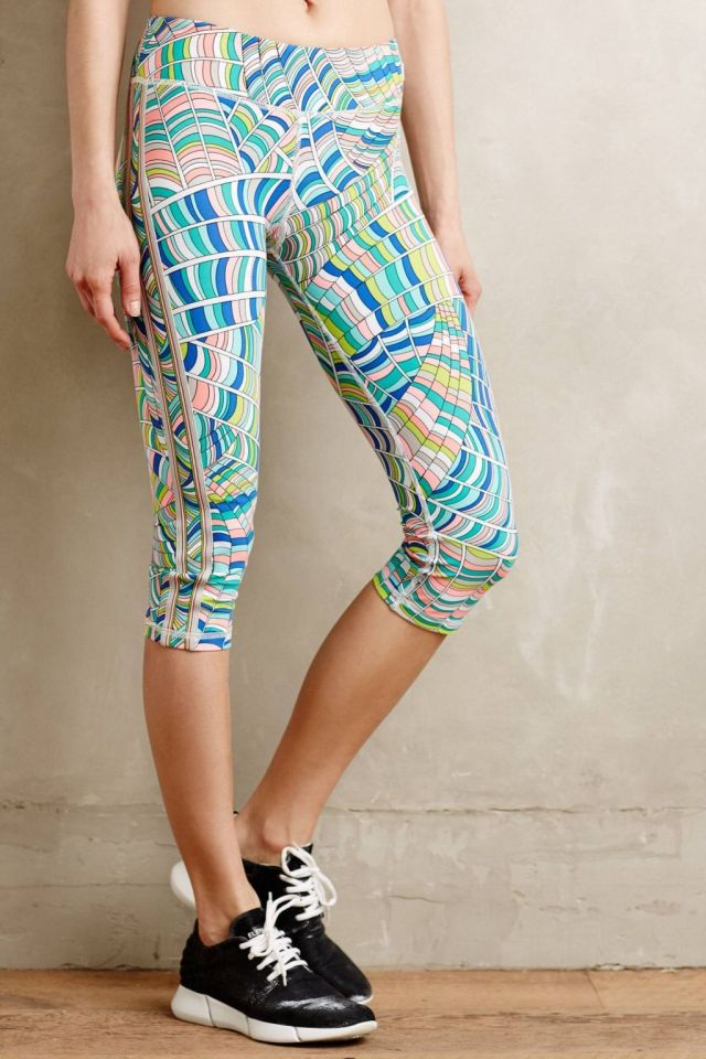 Stained Glass Performance Capris by Trina Turk