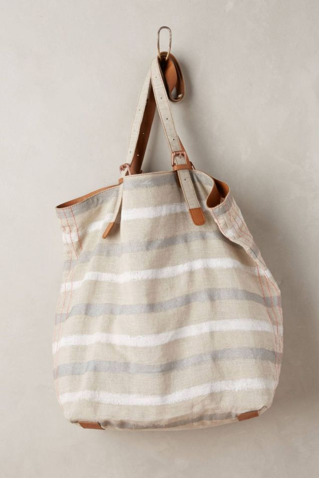 Striped Linen Tote by Miss Albright
