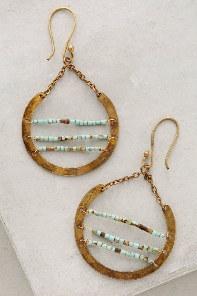 Turquoise Ladder Hoops by Roost