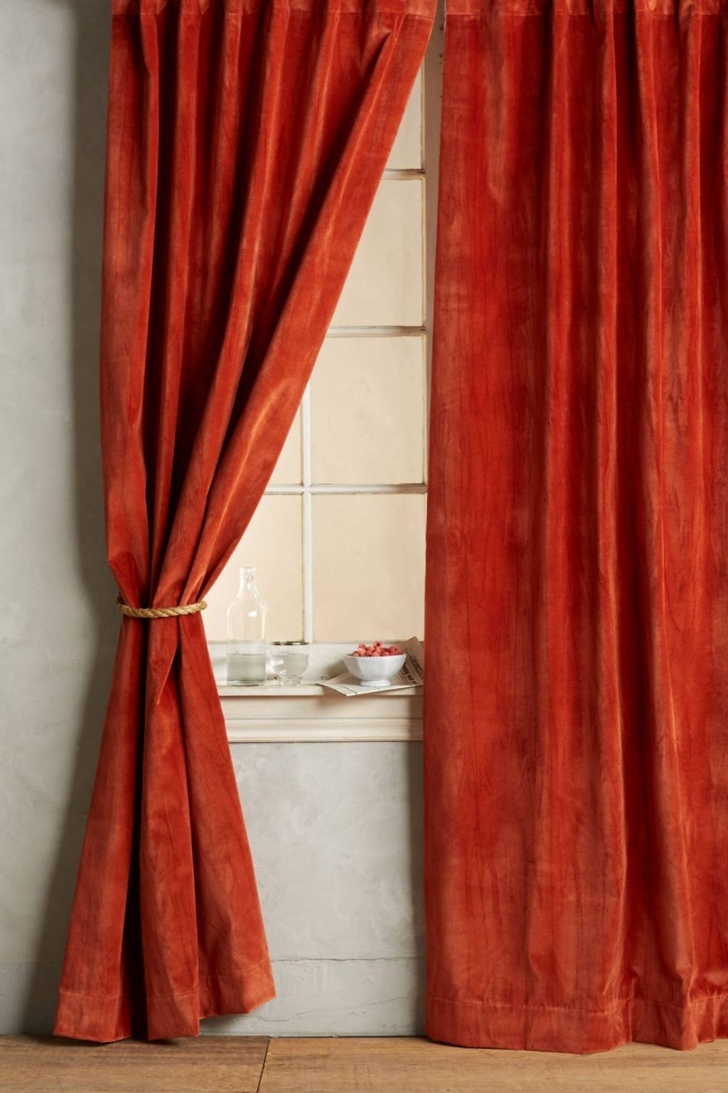washed velvet curtain in dark turqouise washed velvet curtain - Velvet Curtain