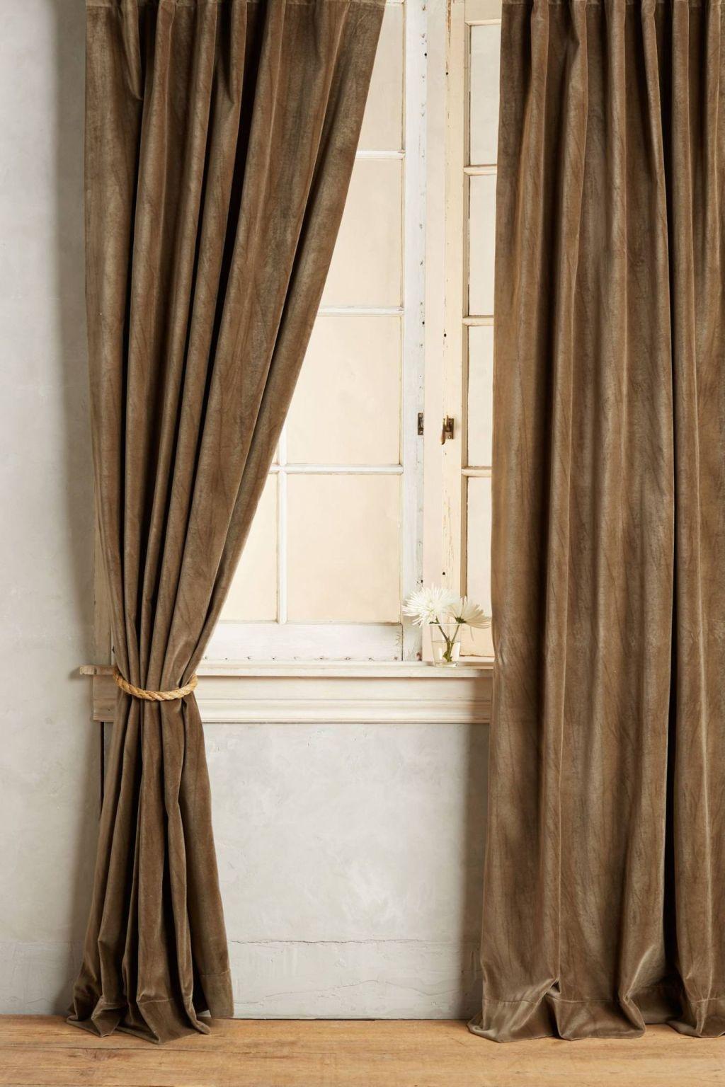 washed velvet curtain in navy washed velvet curtain - Velvet Curtain
