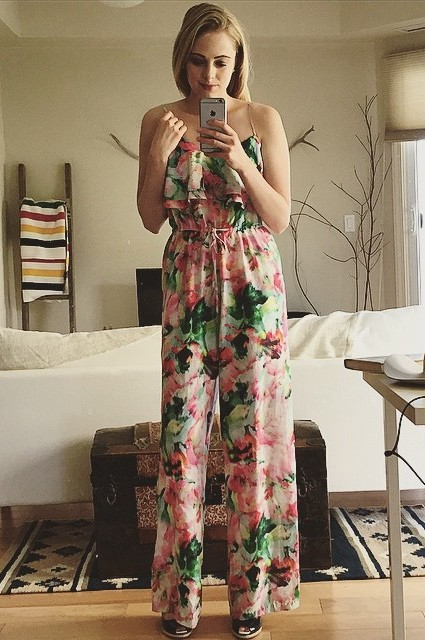 Ikebana Silk Jumpsuit by Fleur Wood