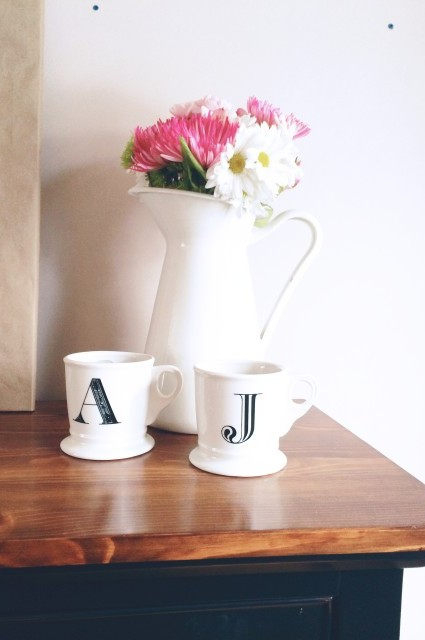 Anthropologie Monogram Mug