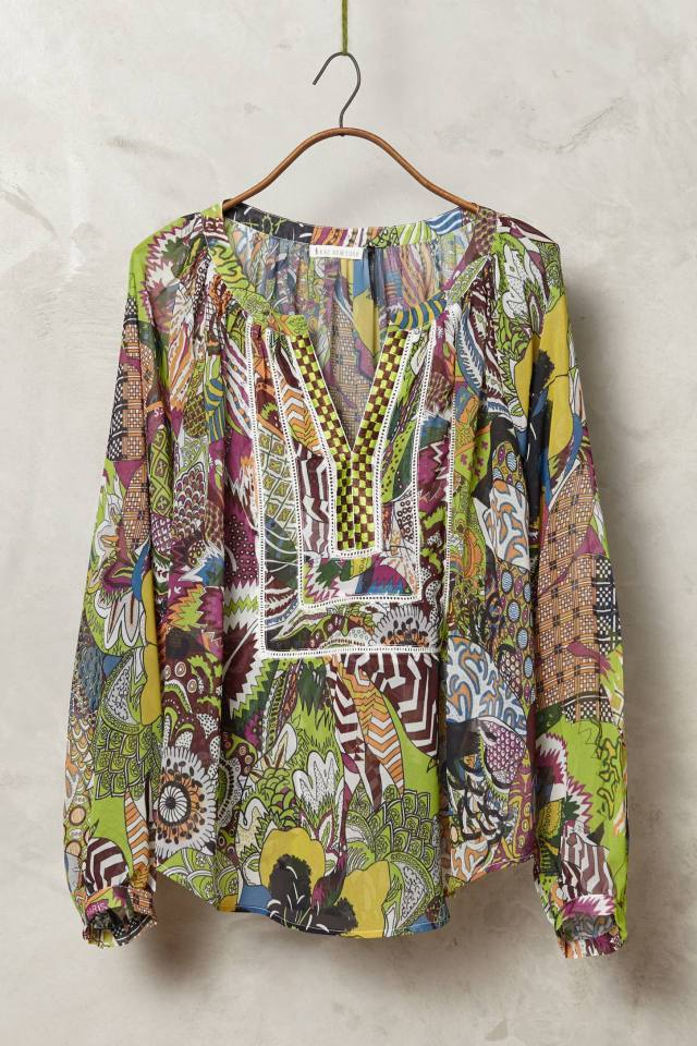 Annick Peasant Blouse by KAS New York