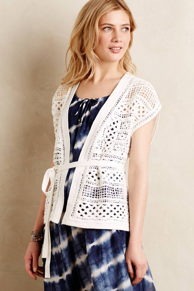 Belted Crochet Cardigan by Knitted & Knotted