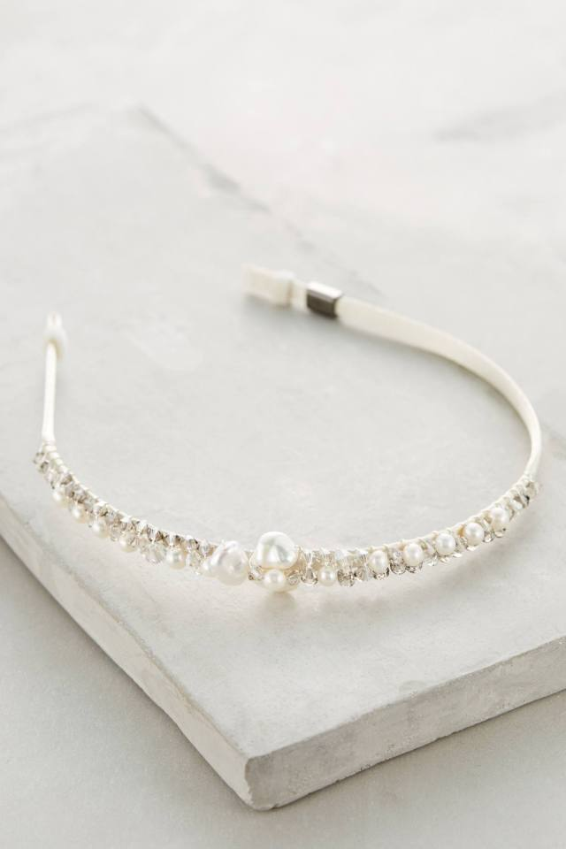 Clustered Pearl Headband by Colette Malouf