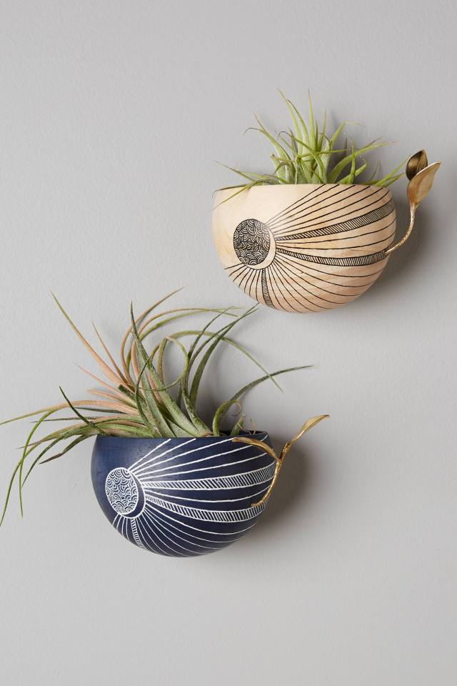Crescent Moon Planter by LIO and LINN