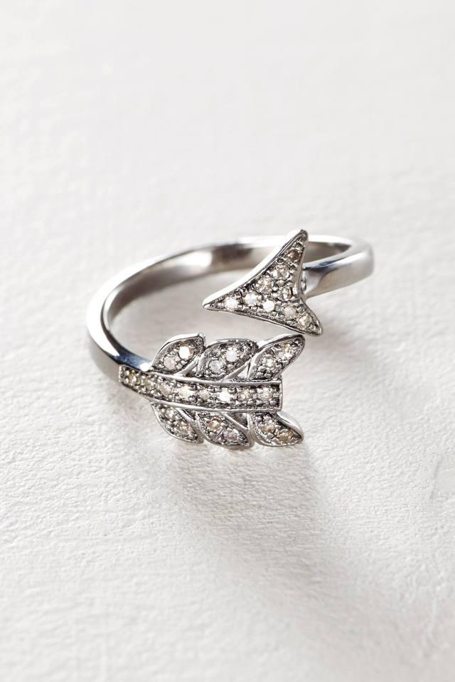 Diamond Arrow Ring by Renee Sheppard