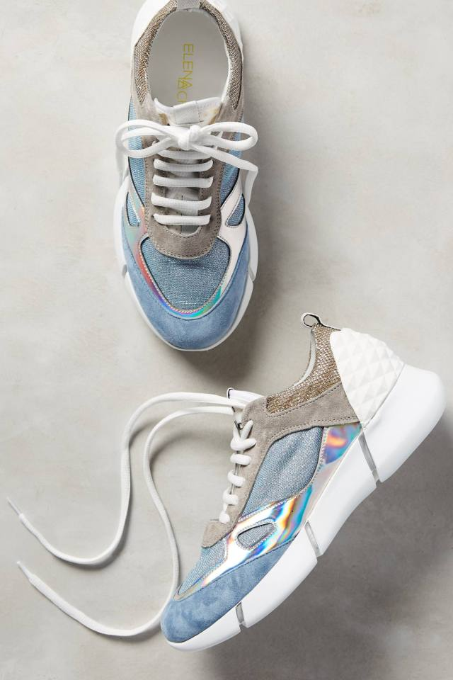 Happy Iridescent Sneakers by Elena Iachi