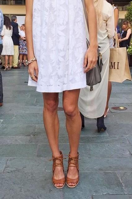 Laced Poplin Swing Dress by HD in Paris