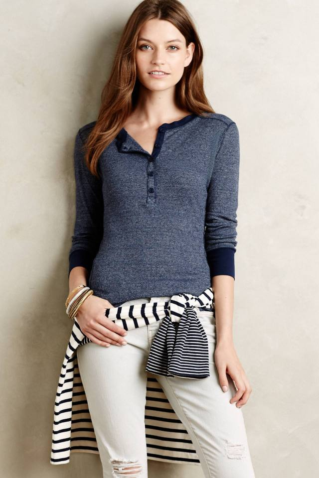 Ribbed Weekender Henley by Stateside