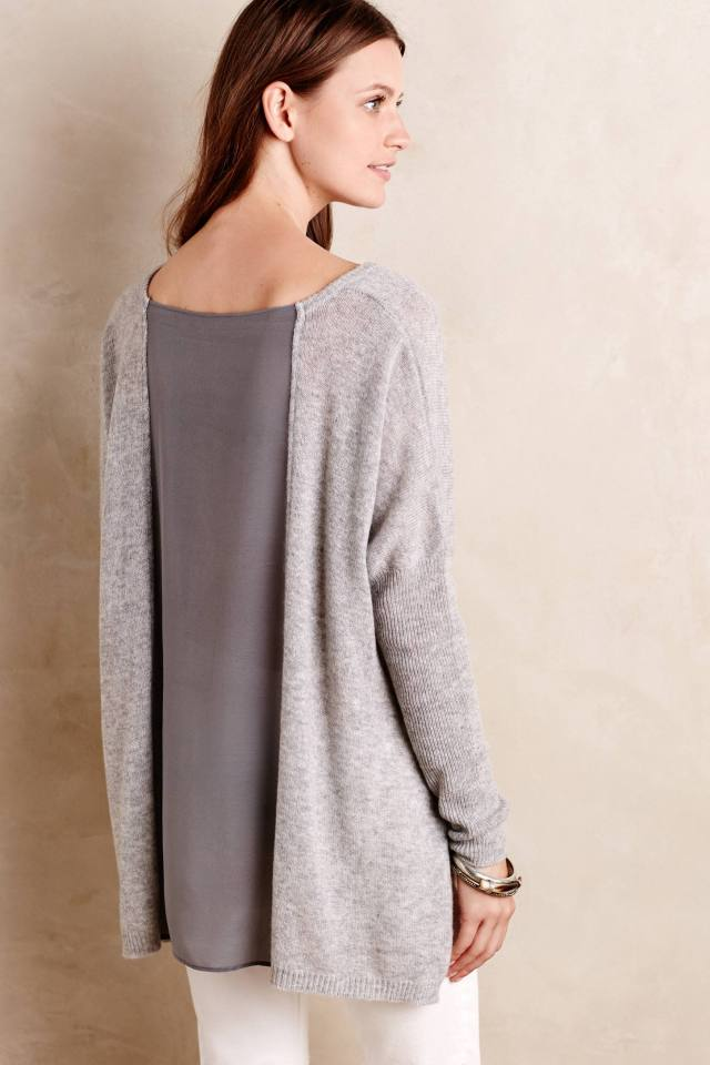 Avital Cashmere Pullover Back in Grey