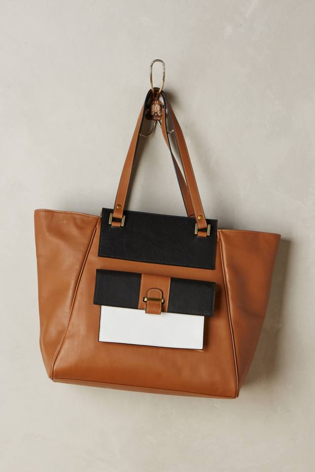 Colorblock Tote by Beracamy Paris