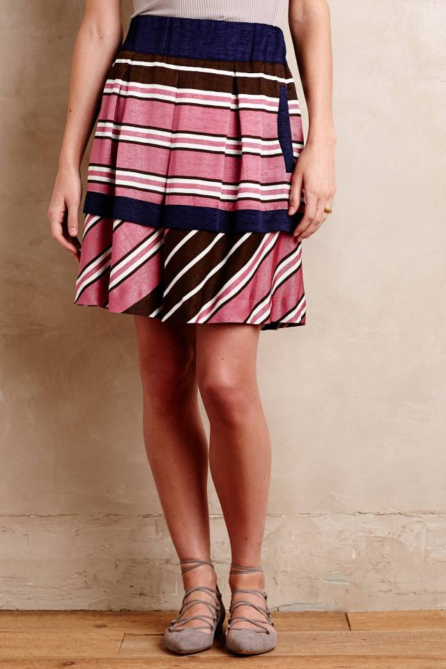Ellery Stripe Skirt by Maeve